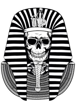 egyptian: Vector illustratoin skull Egyptian Pharaoh