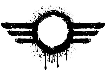 air force: illustration abstract grunge aviator symbol
