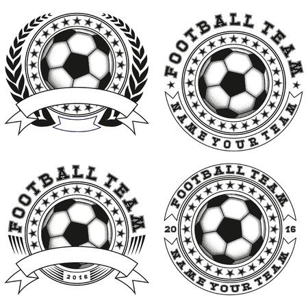 football: Vector illustration football logo set