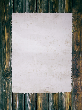 photo paper: Old photo paper on wooden background