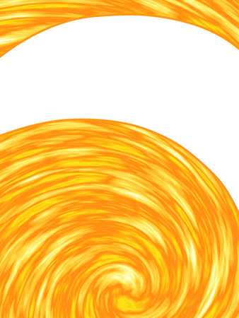 burning paper: Raster illustration of abstract yellow orange background