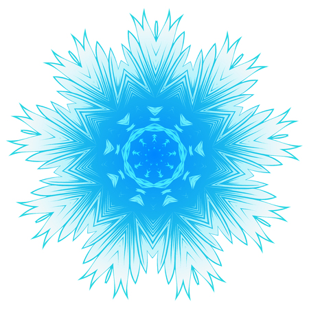 ceiling: Vector illustration snowflake for Christmas and new year design. Abstract pattern for the ceiling outlet.