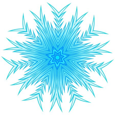 Vector illustration snowflake for Christmas and new year design. Abstract pattern for the ceiling outlet.
