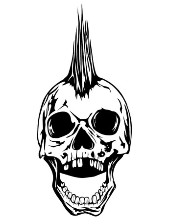 symbols: Abstract vector illustration grunge skull punk for tattoo or t-shirt design