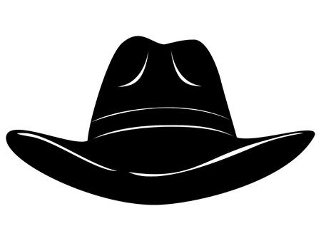 Vector illustration cowboy hat. Illustration