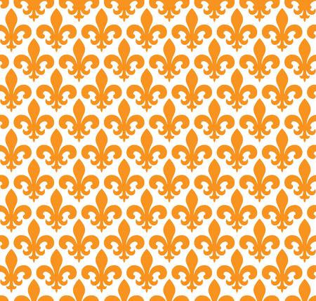 fleurdelis: Vector illustration seamless background with lily (fleur de lis)