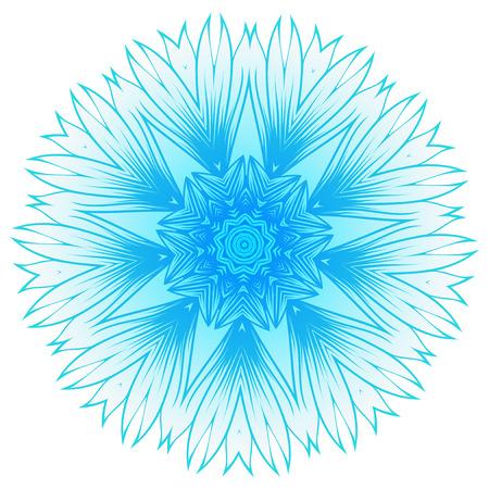 Eine Vektorillustrationsschneeflocke für Weihnachts- und des neuen Jahresdesign. Abstraktes Muster für den Deckenauslass. Standard-Bild - 80636433