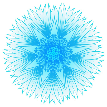 A Vector illustration snowflake for Christmas and new year design. Abstract pattern for the ceiling outlet.