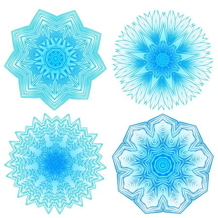 ceiling: Vector illustration snowflake for Christmas and new year design set. Abstract pattern for the ceiling outlet. Illustration