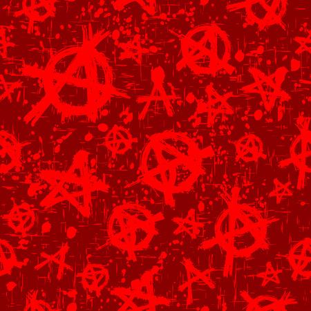 Resumen ilustración vectorial rojo y bordeaux anarquía sin fisuras de fondo.