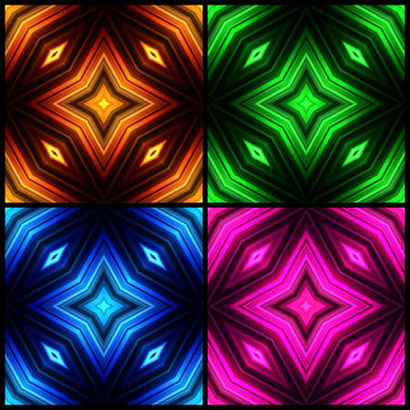 broadsheet: Illustration of colorful glowing borders.