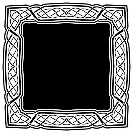 Abstract vector black and white illustration beautiful tracery frame. Decorative vintage tribal cross with patterns. Design element for tattoo or logo.