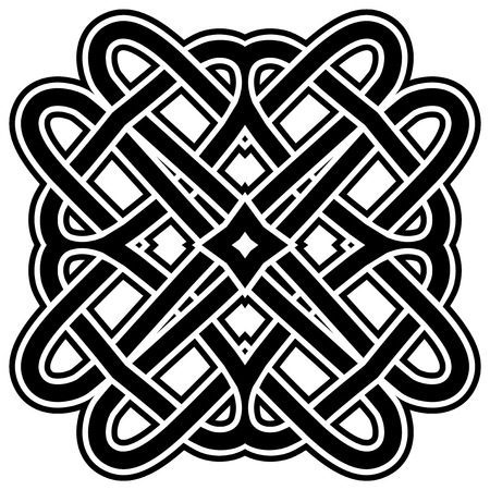 Abstract vector black and white illustration beautiful tracery frame. Decorative vintage tribal cross with patterns. Design element for tattoo. Stock Illustratie