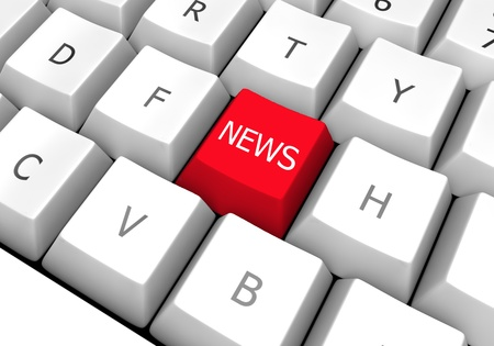 computer keyboard image prepared for the news. Red was used to attract attention photo