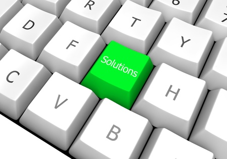 green colored computer keyboard key solution designed for