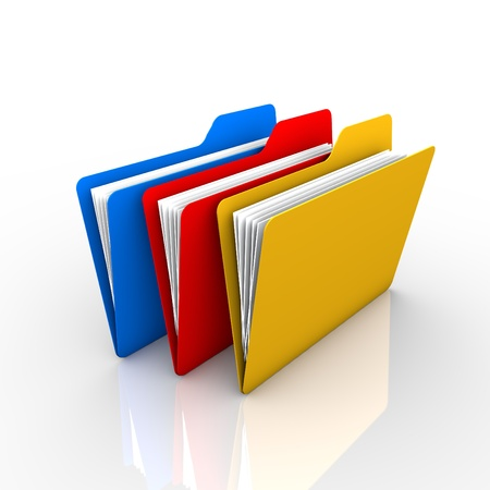 3-color folder, as described in the filing of documents and visual  The presentation and available on the internet Stock Photo - 21167678