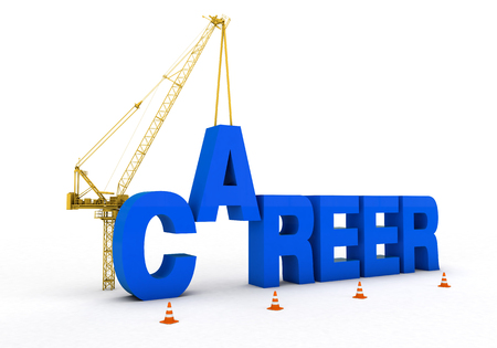 career development and cranes and trucks to build a rich visual images added. Blue font was used on a white background