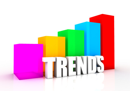 graph showing the rise of the trends. a powerful design that you can use in presentations and draft Stock Photo