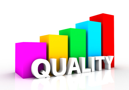graph showing the rise of the quality. a powerful design that you can use in presentations and draft Stock Photo