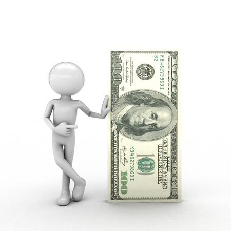 the use of human visual successfully with dollar figures Stock Photo