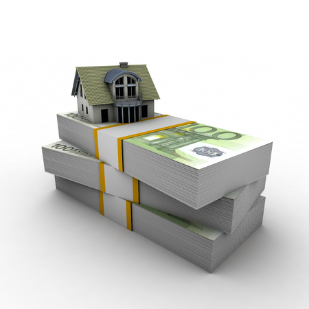 visually described with a mortgage on the house visually money. Stock Photo - 62468929