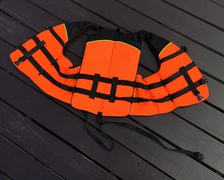 life jacket: Life jacket on the floor