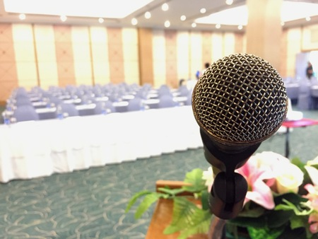 The microphone in meeting room