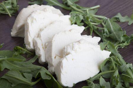 cheese and arugula Zdjęcie Seryjne