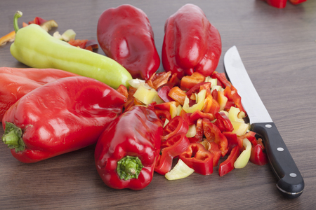 Colored Peppers mixed  chopped up
