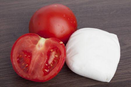 arugula salad from tomatoes and mozzarella