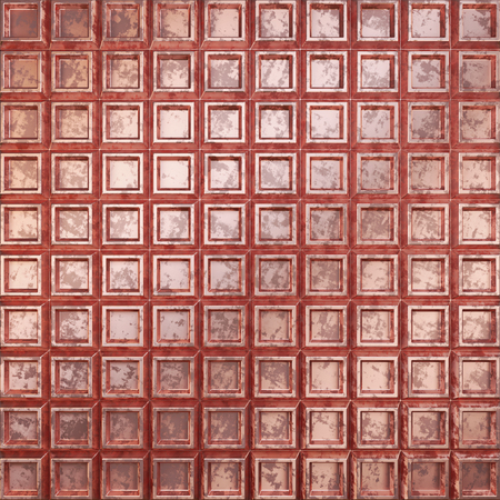 Surface made of metal. Corrugated copper surface. 3D illustration. Stockfoto