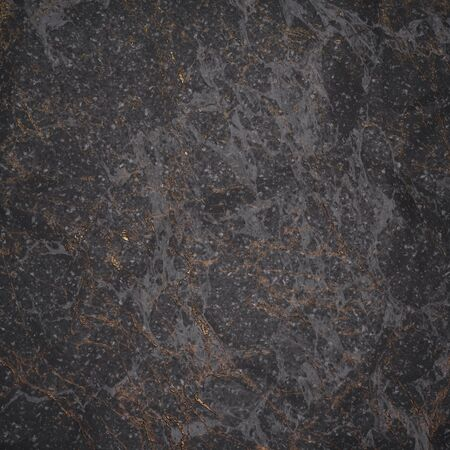 Fragment of dark marble for decoration. The texture for use in graphic and architectural project. Pattern of artificial stone for background. 3D illustration.