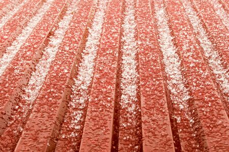 hail: the hail corns have just smashed on the roof but instantly they start to melt and transform into water