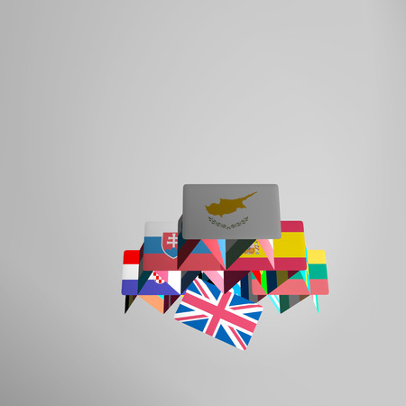 skepticism: BREXIT the United Kingdom is leaving the European Union. This risky courageous decision, result of referendum may have positive or negative effects in future. Symbolized by a card in a house of cards. Stock Photo