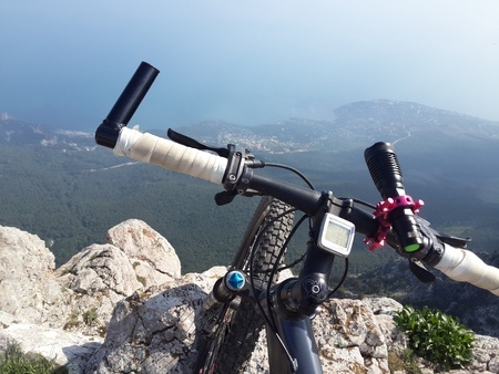 Mtb landsape in mountains Stock Photo