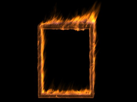 tongues of fire: abstract fire frame