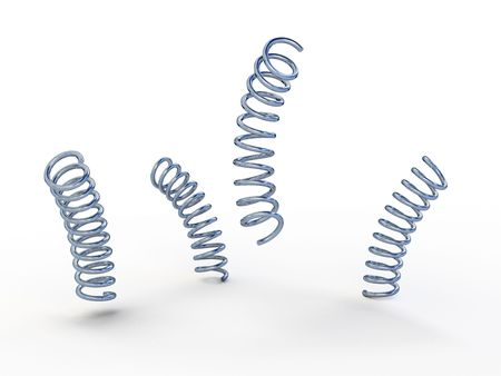 four metal springs. One jumping Stock Photo - 7857585