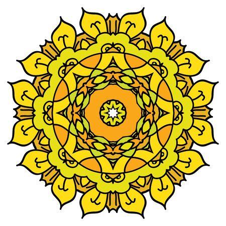 easterly: Yellow mandala