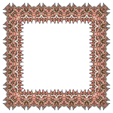 incarnadine: ornamental soft pink frame
