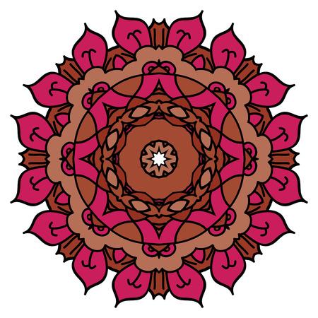 incarnadine: Red mandala