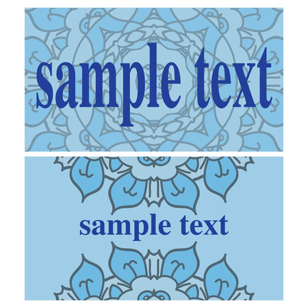 ides: Two blue cards with ornamental mandalas Illustration