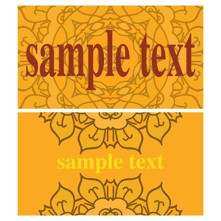 nick: Two orange cards with ornamental mandalas
