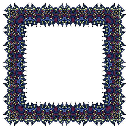 incarnadine: Blue frame