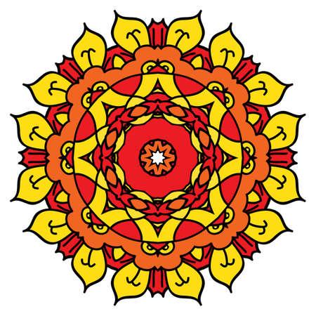 easterly: Bright yellow mandala Illustration