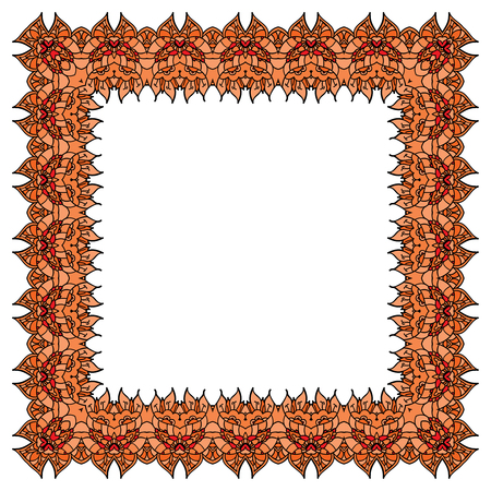 incarnadine: Orange frame Illustration