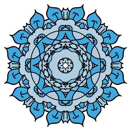 easterly: Soft blue mandala Illustration
