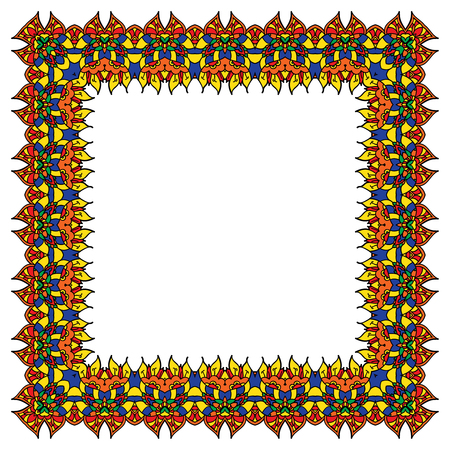 bright ornamental frame vector - Yellow Frame