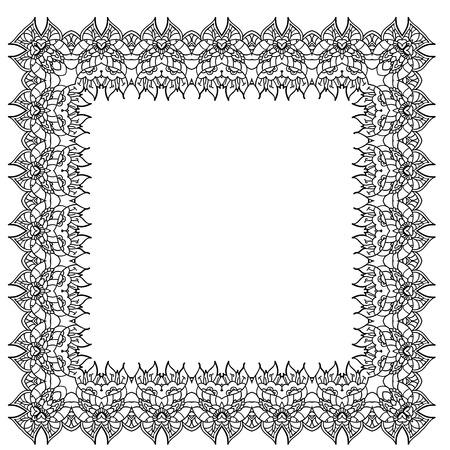 easterly: Black-and-white ornamental frame Illustration