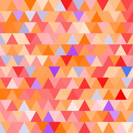 brigt: Orange vector seamless pattern with triangles. Abstract background.