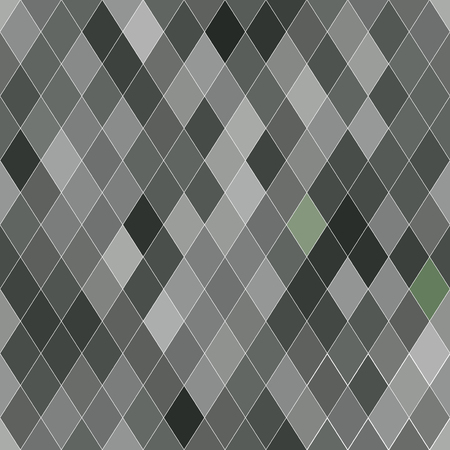 brindled: Vector seamless pattern with rhombs. Abstract gray texture. Geometrical background. Monochrome backdrop. Illustration